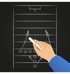 Hand drawing soccer game strategy vector