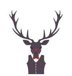 Hipster style reindeer frame vector