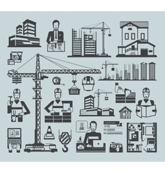 Icons construction vector image