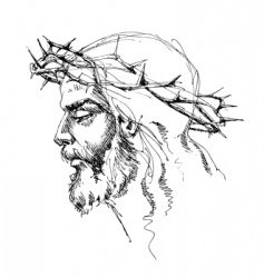 Jesus Christ sketch vector image