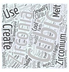 Little Known Facts About Cubic Zirconia Word Cloud vector image vector image