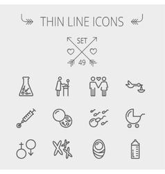 Medicine thin line icon set vector image vector image