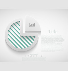 modern diagram infographic vector image