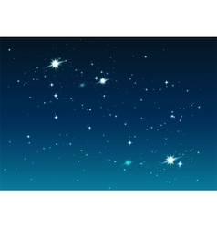 Night starry sky stars and space vector