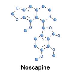 noscapine benzylisoquinoline alkaloid vector image vector image