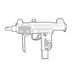 Outline uzi vector
