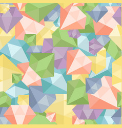 Pastel diamond seamless pattern abstract luxury vector