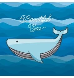 sea life conceptual poster vector image vector image
