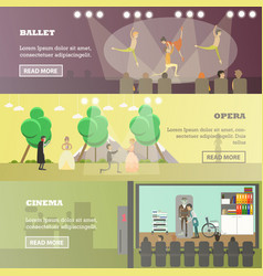 Set of performing arts concept horizontal vector
