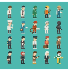 Set of profession characters eps10 format vector image vector image