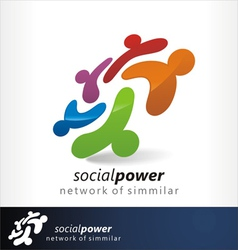 social power 1 vector image