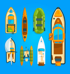 speed motor boat sea ship yacht and other marine vector image