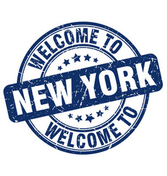 Welcome to new york vector