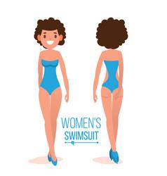 Women s swimsuit female stylish swimwear vector