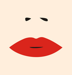 Womens lips and nose salon logo icon vector