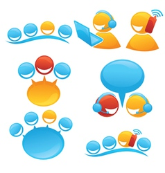 people society and communication symbols and icon vector image