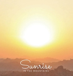 blurred mountains sunrise background vector image