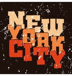 T shirt typography graphics new york vector