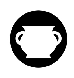 Treasure jar isolated icon vector