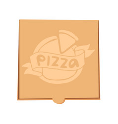Closed pizza box delivery vector