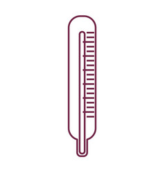 Silhouette thermometer hospital tool icon vector