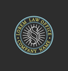 Law office logo vintage attorney advocate vector