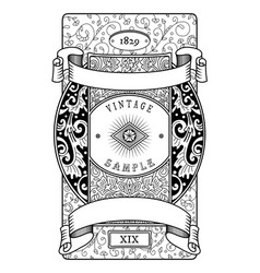 vintage label victorian style vector image