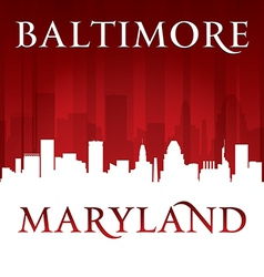 Baltimore maryland city skyline silhouette vector