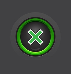 Glossy dark exit button vector