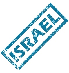 Israel rubber stamp vector
