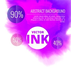 Water ink splash burst in purple color vector