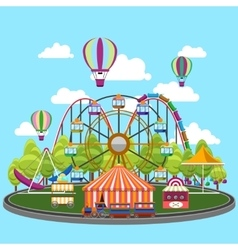 Carousel in flat design vector