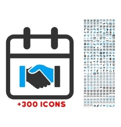 Contract date icon vector