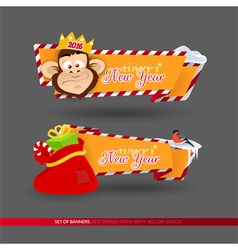 Set of banners for New Year 2016 holidays vector image