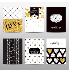 Set of valentines day brochures and cards vector