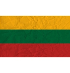 Lithuania paper flag vector