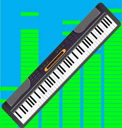 Electronic synthesizer isolated vector