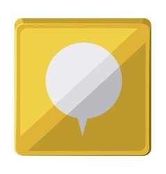 Speech bubble isolated icon design vector
