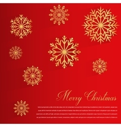 Abstract design with golden Snowflakes and Merry vector image vector image