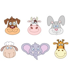animal heads 2 vector image