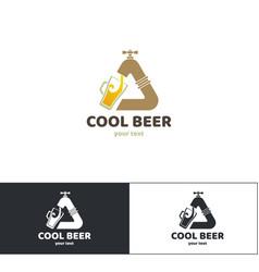 Beer logo one vector