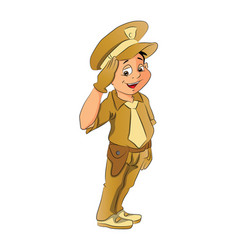 boy in police uniform vector image vector image