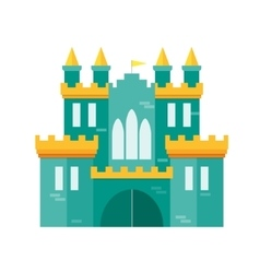 Castle princess flat design style vector