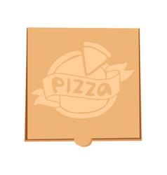 Closed pizza box delivery vector