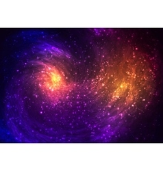 Colorful space background with Nebula stellar vector image vector image