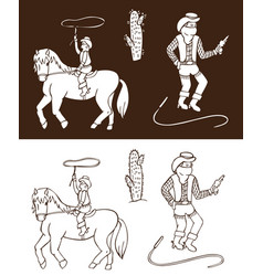 cowboys wild west vector image
