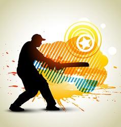 cricket background vector image
