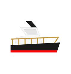 Flat yacht boat cargo ship design vector