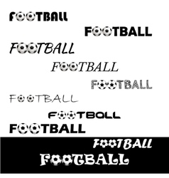 Football text for logo the team and the cup vector image vector image