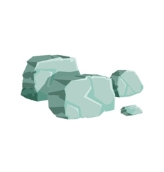 Grey shaped rocks natural landscape design element vector